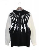 NEIL BARRETT(ニールバレット)の古着「ジップパーカー」|ホワイト×ブラック