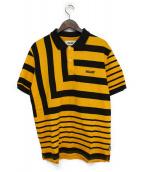 PALACE(パレス)の古着「ポロシャツ」|イエロー×ブラック