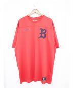 BILLIONAIRE BOYS CLUB(ビリオネアボーイズクラブ)の古着「フットボールTシャツ」 レッド