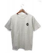 F.C.R.B.(エフシーアールビ)の古着「ボーダーTシャツ」|グレー×ホワイト