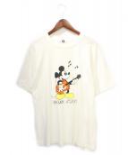 GOOD ENOUGH(グッドイナフ)の古着「ミッキープリントTシャツ」|ホワイト