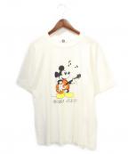 GOOD ENOUGH(グッドイナフ)の古着「ミッキープリントTシャツ」 ホワイト