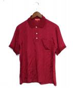 Supreme(シュプリーム)の古着「18SS Jacquard Logo Silk Polo」|レッド