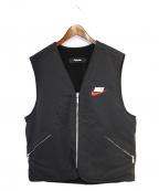 SUPREME × NIKE(シュプリーム × ナイキ)の古着「18AW Reversible Nylon Sherpa V」|ブラック