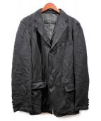 COMME des GARCONS HOMME(コムデギャルソンオム)の古着「製品染めジャケット」|ブラック