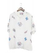 SON OF THE CHEESE(サノバチーズ)の古着「オープンカラーシャツ」|ホワイト