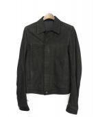 RICK OWENS(リックオウエンス)の古着「スエードレザージャケット」 ブラック