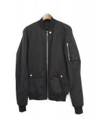 RICK OWENS(リックオウエンス)の古着「MA-1ジャケット」 ブラック