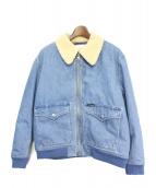 Calvin Klein Jeans(カルバンクラインジーンズ)の古着「ボアカラーデニムジャケット」|インディゴ