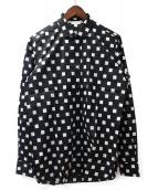 Saint Laurent Paris(サンローランパリ)の古着「スクエアプリントシャツ」|ブラック