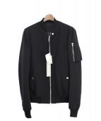 RICK OWENS(リックオウエンス)の古着「ウールMA-1ジャケット」 ブラック