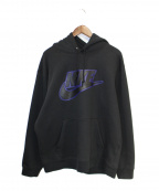 SUPREME × NIKE(シュプリーム × ナイキ)の古着「19AW Leather Applique Hooded S」|ブラック