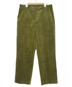 MR.GENTLEMAN(ミスタージェントルマン)の古着「コーデュロイパンツ」|オリーブ