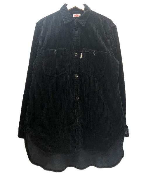 H.R.MARKET(ハリウッドランチマーケッド)H.R.MARKET (ハリウッドランチマーケット) ワイドコーデュロイロングワークシャツ ブラック サイズ:3  参考価格18.000円+税 WIDE CORDUROY LONG WORK SHIRTSの古着・服飾アイテム