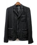 BLACK COMME des GARCONS(ブラックコムデギャルソン)の古着「パイピングジャケット」|ブラック