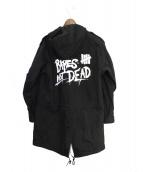 A BATHING APE × UNDEFEATED(アベイシングエイプ × アンディフィーテット)の古着「モッズコート」|ブラック