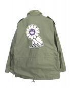 OVO × 村上隆 kaikaikiki(オーブイオー × ムラカミタカシ カイカイキキ)の古着「M65ジャケット」 カーキ