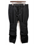 Yohji Yamamoto pour homme(ヨウジヤマモトプールオム)の古着「2wayギャバジン折りパンツ」|ブラック