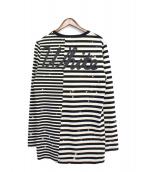 OFFWHITE(オフホワイト)の古着「長袖Tシャツ」|ホワイト×ブラック