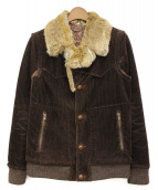 NUMBER (N)INE(ナンバーナイン)の古着「ファーカラーコーデュロイジャケット」|ブラウン