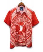 MIHARA YASUHIRO(ミハラヤスヒロ)の古着「鱗装飾シャツ」|レッド