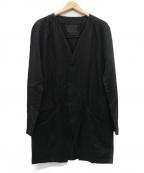 OURET(オーレット)の古着「リネン混ノーカラージャケット」|ブラック