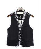 Mastermind JAPAN(マスターマインドジャパン)の古着「レオパード切替ベスト」|ブラック