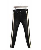 MNML(ミニマル)の古着「サイドラインデニムパンツ」|ブラック