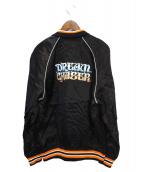 SELF MADE(セルフメイド)の古着「サテンジャケット」 ブラック