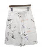 SELF MADE(セルフメイド)の古着「刺繍デザインショーツ」|ホワイト
