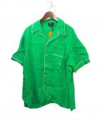 SELF MADE(セルフメイド)の古着「オープンカラーシャツ」|グリーン