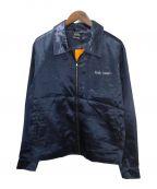 SELF MADE(セルフメイド)の古着「サテンジャケット」|ネイビー