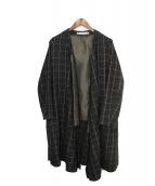 SASQUATCHfabrix.(ザスクワッチファブリックス)の古着「HANERI LONG LIGHT COAT」|ブラック