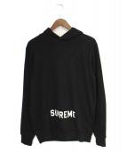 Supreme(シュプリーム)の古着「カットソーパーカー」|ブラック