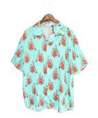 sss world corp(トリプルエス ワールドコープ)の古着「アロハシャツ」|スカイブルー