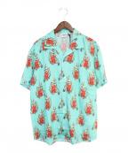 sss world corp(トリプルエス ワールドコープ)の古着「オープンカラーシャツ」|スカイブルー
