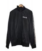 SSS WORLD CORP(トリプルエス ワールドコープ)の古着「パイソントラックジャケット」|ブラック