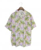 sss world corp(トリプルエス ワールドコープ)の古着「オープンカラーシャツ」|ラベンダー