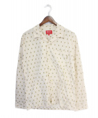 Supreme(シュプリーム)の古着「オープンカラードットシャツ」 アイボリー×カーキ