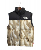 SUPREME(シュプリーム)の古着「13AW Fur Print Nuptse Vest」|ベージュ