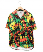 sss world corp(トリプルエス ワールドコープ)の古着「オープンカラーシャツ」|イエロー