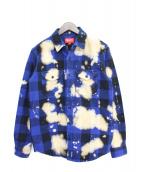 Supreme(シュプリーム)の古着「Bleached Heavyweight Shirt」|ブルー