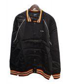 SELF MADE(セルフメイド)の古着「サテンジャケット」|ブラック
