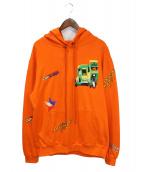 SELF MADE(セルフメイド)の古着「刺繍パーカー」 オレンジ