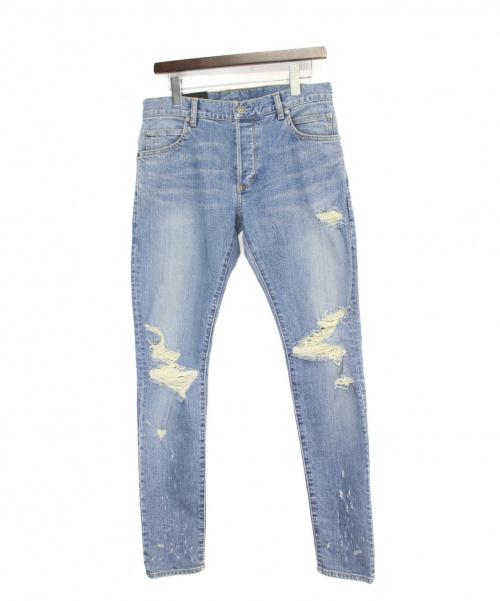 BALMAIN(バルマン)BALMAIN (バルマン) ダメージデニムパンツ インディゴ サイズ:W30の古着・服飾アイテム