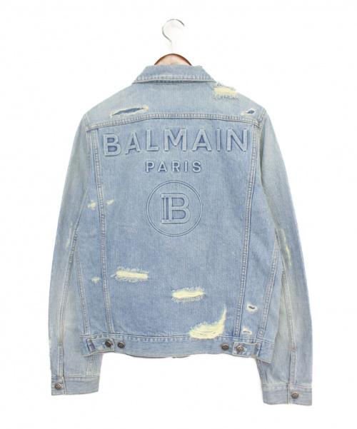 BALMAIN(バルマン)BALMAIN (バルマン) バックロゴデニムジャケット インディゴ サイズ:48の古着・服飾アイテム