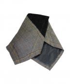 nemeth(ネメス)の古着「ネクタイ型マフラー」|ブラック×ベージュ