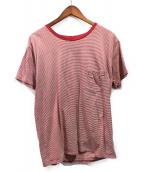 Saint Laurent Paris(サンローランパリ)の古着「カサンドラ刺繍ボーダーTシャツ」|レッド×ホワイト