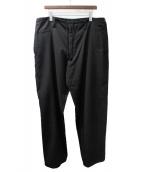 Yohji Yamamoto pour homme(ヨウジヤマモトプールオム)の古着「ウールギャバワイドパンツ」|ブラック