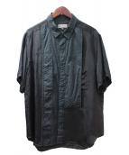 Yohji Yamamoto pour homme(ヨウジヤマモトプールオム)の古着「半袖シャツ」|ブラック
